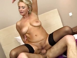 Polish Milf Seduces Young Guy In Bed And Fucks Him