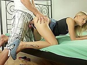 Cute Teen Harlot Got Her Asshole Punished
