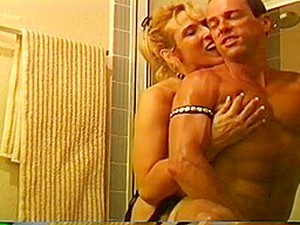 A Busty Blonde Fucks A Dude With A Strap-on