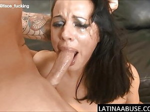 Latina Cry Baby Throat Fucked, Rough Anal & Extreme DP