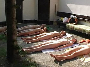 Czech Nude Group Yoga Part 1