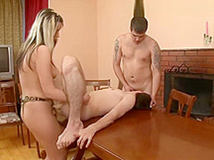 CoupleDomination - Couple Make Full Use Of Their Slave's Mouth And Ass