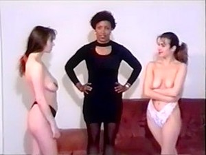 Lesbian Topless Catfight Wrestling With Facesitting, Hairpulling, Scissors