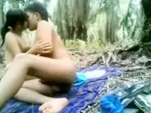 Indonesian  Immature Screwed In The Jungle