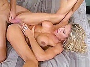 Seductive Yellow-haired Experienced Woman Crystal Performing Ass Linking