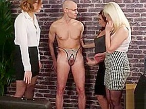 Three Milfs Make A Guy Strip