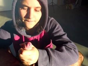 CUTE Shy Hoodie TEEN EATS All My CUM