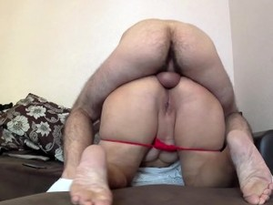 Stepmother Was Lying The Son Was Horny And Fucked In Anal. Mom Big Ass Anal