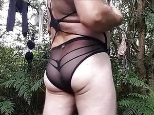 Panty Play In The Woods