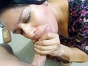 My Mexican Housekeeper Sucking My Cock