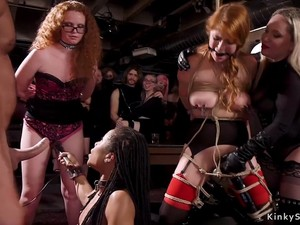 Different Slaves Anal Fucking At Bdsm Party