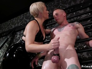 Tied Dick Male Anal Fucked By Milf Dom
