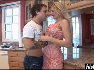 Beautiful Blonde Loves His Raging Boner