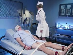 Busty Milf Nurse Dominates Male Patient