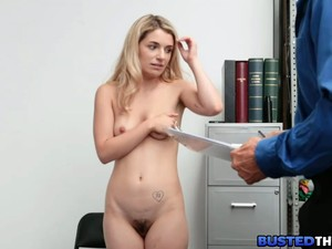 Blonde Teen Suspect Caught By Security Guard
