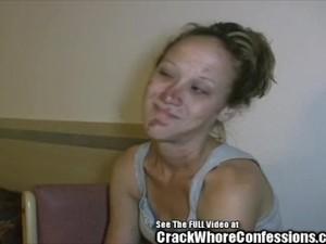 Haggard Crack Whore Gets Double Fucked