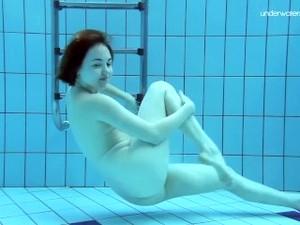 Lada Poleshuk Underwater Show Big Tits Short Hair