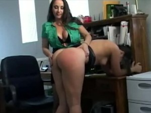 Spanked By The Boss For Dressing Inappropriately