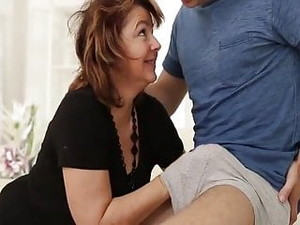 Another Mature Gets A Big Cock