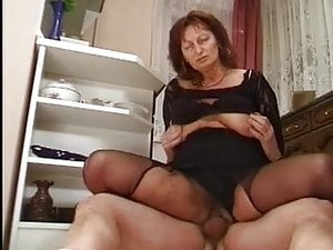 Big Saggy Tits Granny Fucked In Kitchen