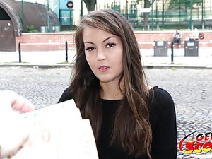 GERMAN SCOUT - CUTE TEEN CINDY TALK FUCK AT STREET CASTING