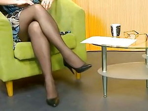 Lady With Long Legs In A TV Show