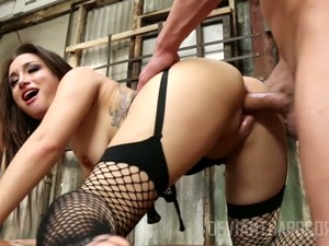 Watch Quite Busty Sexy Cowgirl In Fishnet Stockings Gabriella Paltrova Riding Dick