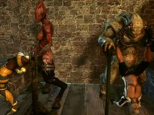 Two Girls - Cassie Cage & Sonya Being Fucked By 3d Monsters In Cartoon Porn