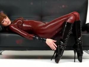 Alexandra Potter In Latex