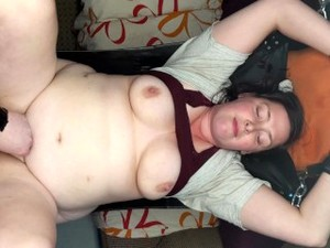 Hubby Chains Up MILF And Has A Midnight Snack
