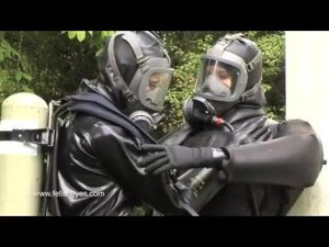 Sexy Rubber Drysuit Girls Having Fun