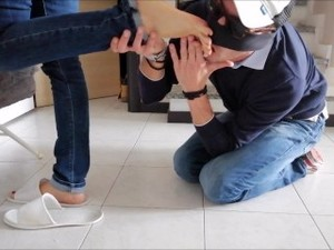 Foot Worship During Houseworks