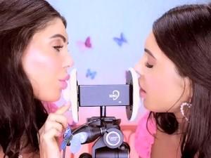 Twins Lick And Kiss Your Ears (ASMR)