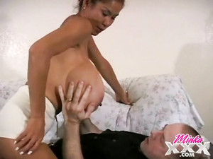 Old Guy Gets To Suck Those Gigantic Tits
