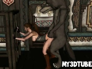3D Red Riding Hood Getting Fucked By The Big Bad Wolf