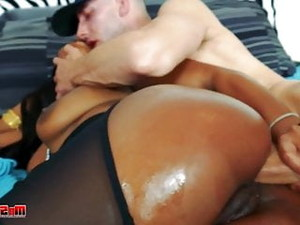 Thick Ebony Ericka Liu Ass Filled By White Guy