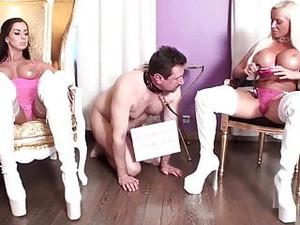 Femdom Ladies Dominate Slaves