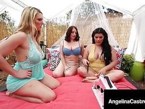 PAWGs Angelina Castro, Maggie Green & Joslyn Jane Do Machine