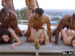 BLACKED Teanna Trump, Adriana Chechik, And Vicki Chase In GB
