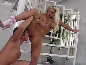 Blonde Slut Stacy Analized In Pink Fuck-me Pumps