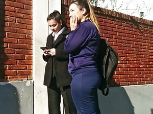Blue Jogging Ass Tight Booty