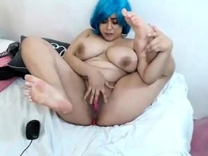 Big Boobs Mature BBW Latina With Glasses Masturbate