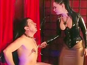 Mistress Dominates Pathetic Sub With Cbt
