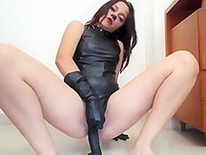 Slutty Teen Plays In Cat Costume Spanish JOI