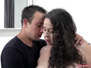 Curvy Granny With Big Tits Getting Fucked Hard