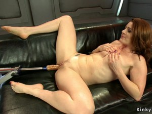 Redhead Butt Plugged And Machine Fucked