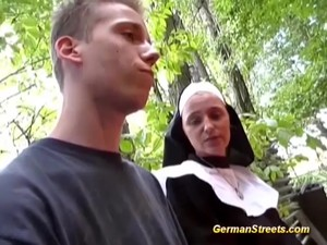 Horny Cum Loving Nun Picked Up From Street For Extreme Sex In Nature