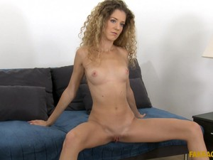 Monique Woods Strips And Rides A Stiff Rod Until She Gets A Creampie