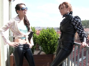 BDSM Leather Fetish With Foxy Ferrara Gomez And Marina Visconti