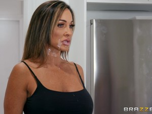 Mature Slutty Wife Aubrey Black Welcomed Home Her Horny Husband